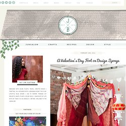 A Valentine's Day Fort on Design Sponge