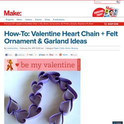 Valentine Heart Chain + Felt Ornament & Garland Ideas