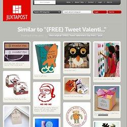 {FREE} Tweet Valentine's Day Printables! Cupcake toppe...