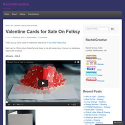 Valentine Cards for Sale On Folksy « RachelCreative