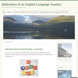 Valentine's Day – Reflections of an English Language Teacher