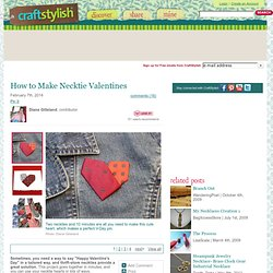 How to Make Necktie Valentines - CraftStylish
