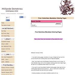 Free Valentines Mandalas Coloring Pages,HOP OFF to Color Mandalas Valentines Day