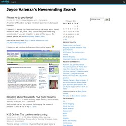 Joyce Valenza's Neverending Search