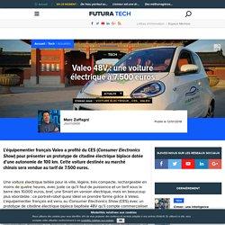 Valeo 48V : une voiture électrique à 7.500 euros