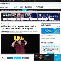 """Valère Novarina dépose avec malice """"Le Vivier des noms"""" en Avignon"""