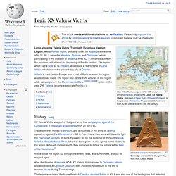 Legio XX Valeria Victrix - Wikipedia