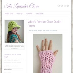 Valerie's Fingerless Gloves Crochet Pattern