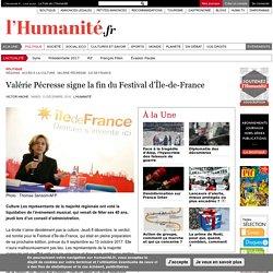 Valérie Pécresse signe la fin du Festival d'Île-de-France