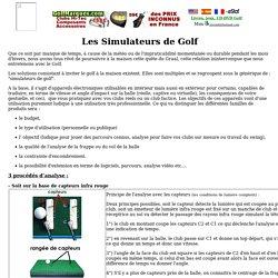 ValeroSports golf, simulateur golf, simulateur de golf, shot analyser, golf simulator