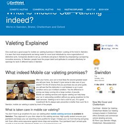 Valeting Explained