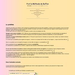 Une valeur approchée de Pi par la méthode de Buffon