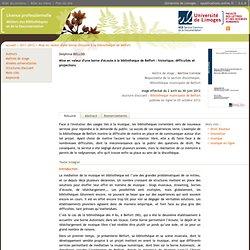 Mise en valeur d'une borne d'écoute à la bibliothèque de Belfort (licence pro)