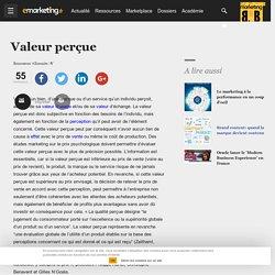 Valeur perçue - Définition du glossaire