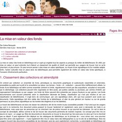 La mise en valeur des fonds (vitrine.La mise en valeur des fonds) - CNFPT