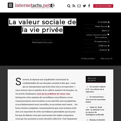 La valeur sociale de la vie privée