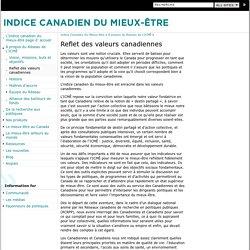 Reflet des valeurs canadiennes