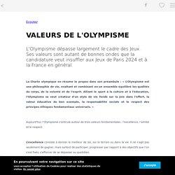 VALEURS DE L'OLYMPISME