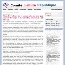 """""""Non, les valeurs de la démocratie ne sont pas vides !"""" (P. Engel et C. Tiercelin, lemonde.fr , 21 nov. 15)"""
