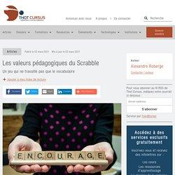 Les valeurs pédagogiques du Scrabble
