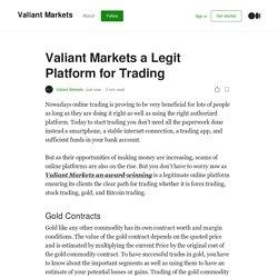 Valiant Markets a Legit Platform for Trading