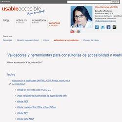 Validadores de accesibilidad y usabilidad web
