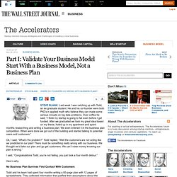Start With a Business Model, Not a Business Plan - The Accelerators