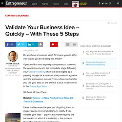 Validate Your Business Idea