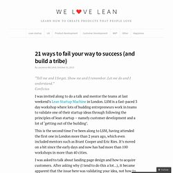 20 ways to validate your startup idea (other than landing pages) | We Love Lean – Lean startups, design, happiness and everything in between