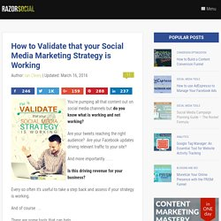 How to Validate Your Social Media Marketing Strategy