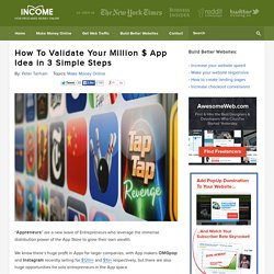 How To Validate Your Million $ App Idea in 3 Simple Steps - How To Make Money Online