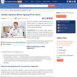 Validate Signature Before Signing Off On Claims