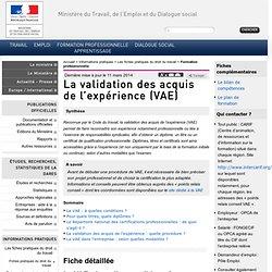 Travail-solidarite.gouv.fr > VAE