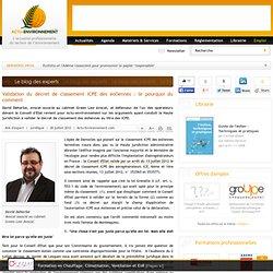 Avis d'Expert - Validation du décret de classement ICPE des éoliennes : le pourquoi du comment