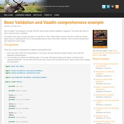 Bean Validation src vaadinBook