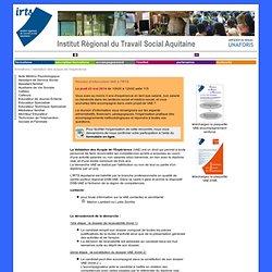 IRTS Aquitaine - validation des acquis de l'expérience (VAE)