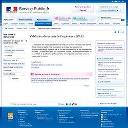 Service-public.fr > VAE