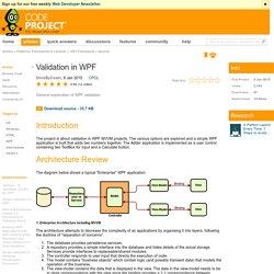 Validation in WPF