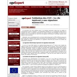 Validation des CGV : Le clic équivaut à une signature manuscrite