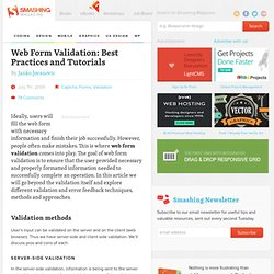 Web Form Validation: Best Practices and Tutorials - Smashing Magazine