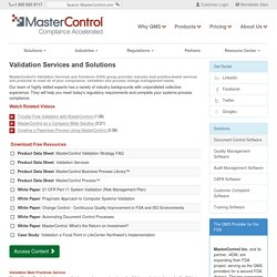 Validation Services and Solutions