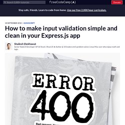 How to make input validation simple and clean in your Express.js app
