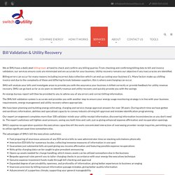 Bill Validation & Utility Recovery - Switch My Utility