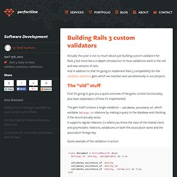 Building Ruby on Rails 3 custom validators | PerfectLine Blog