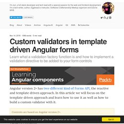 Custom validators in template driven Angular forms