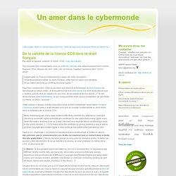 De la validité de la licence CC0 dans le droit français - Un ame