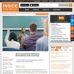 New study could be another nail in the coffin for the validity of student evaluations of teaching