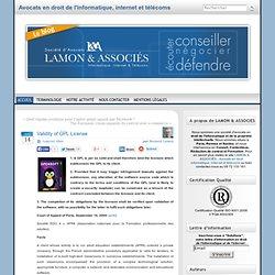 Validity of GPL License « Bernard Lamon – Avocat spécialiste en droit de l'informatique et des télécommunications