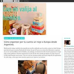 Con mi valija al hombro.: Cómo organizar por tu cuenta un viaje a Europa desde Argentina