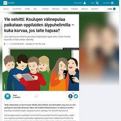 Yle selvitti: Koulujen välinepulaa paikataan oppilaiden älypuhelimilla – kuka korvaa, jos laite hajoaa?